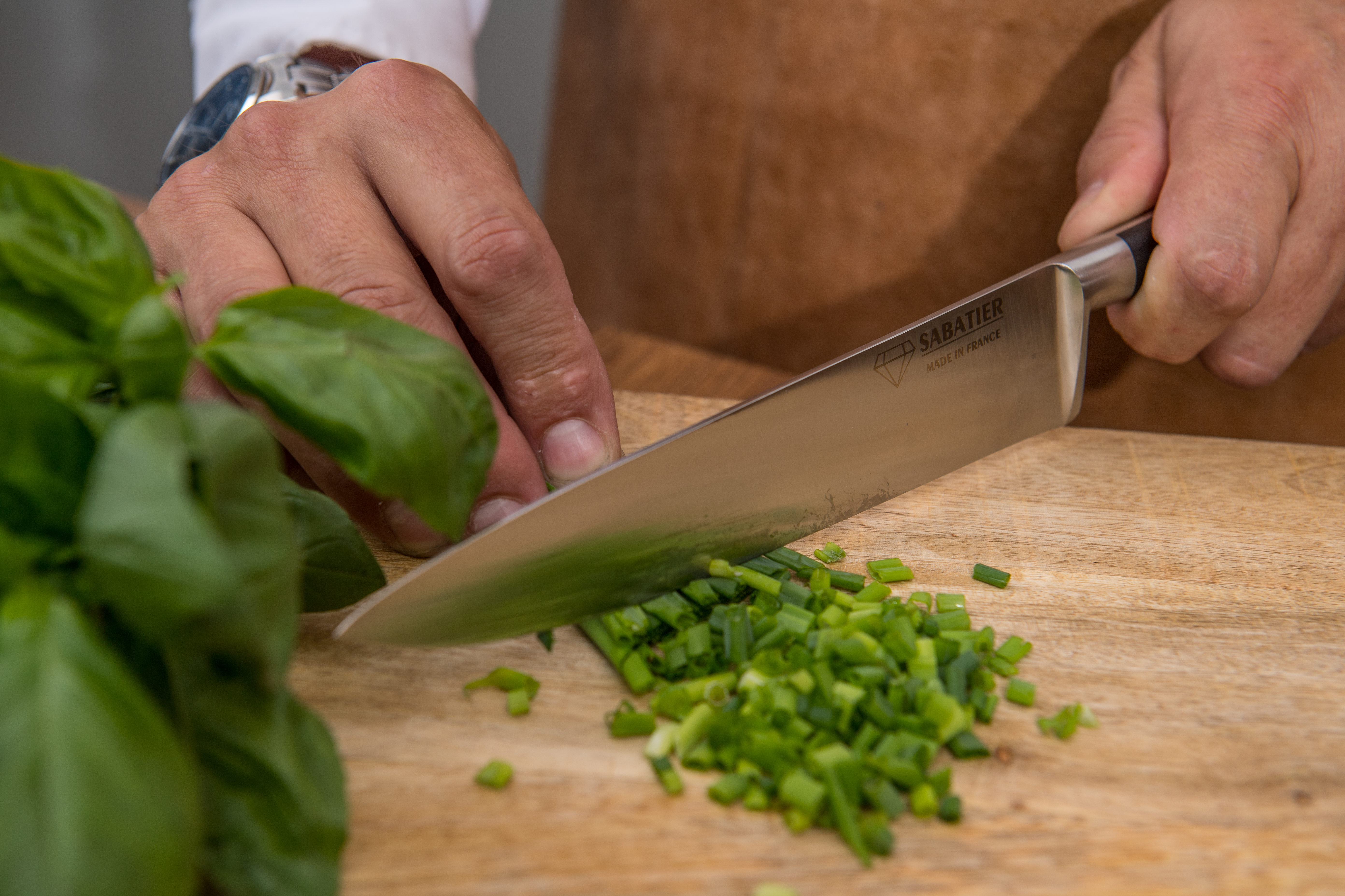 Couteau cuisine - SABATIER Diamant - Ciboulette